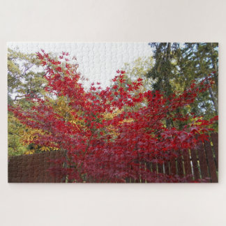 Autumn Red Maple Leaves Jigsaw Puzzle