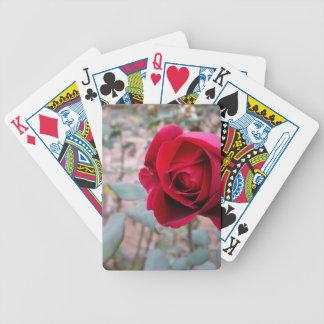 Autumn red rose poker deck
