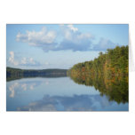 """Autumn Reflections at Long Pond"" Note Card"