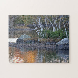 Autumn reflections at the end of the day jigsaw puzzle
