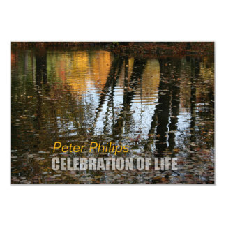 Autumn Reflections Celebration of Life Invitation