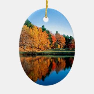Autumn Reflections Vermont Ceramic Ornament