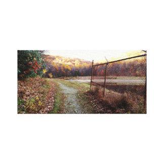 Autumn Reservoir Canvas Print