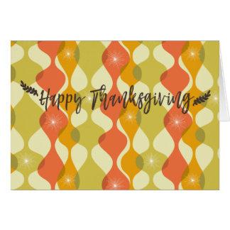 Autumn Retro Thanksgiving Card