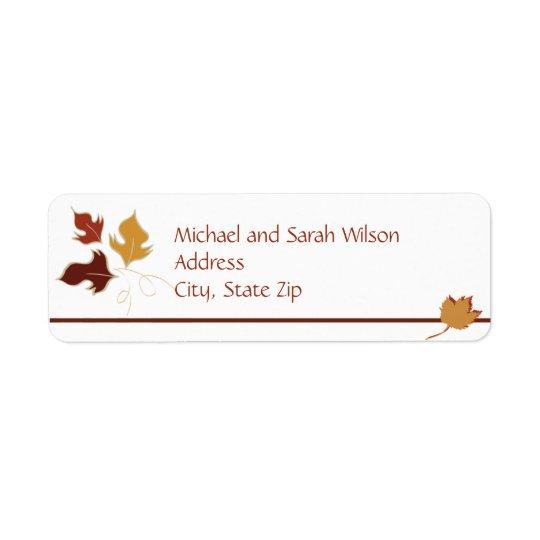 Autumn Return Address Labels