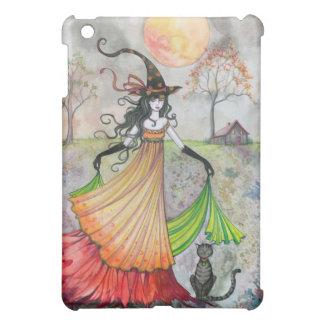 Autumn Reverie Witch and Cat Halloween Art iPad Mini Case