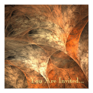 Autumn Riches Fractal Art Card