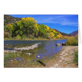 Autumn River in  Taos New Mexico Card