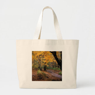 Autumn Road Less Traveled Canvas Bag