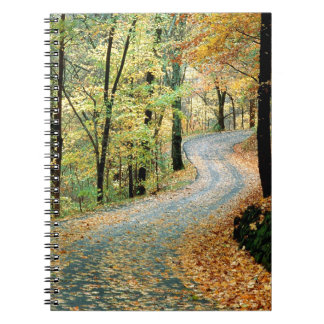 Autumn Road Percy Warner Park Note Book