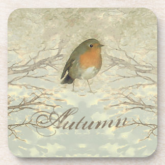AUTUMN ROBIN Fall Branches Coaster