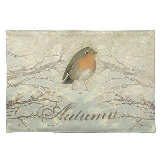 AUTUMN ROBIN Fall Branches Placemat