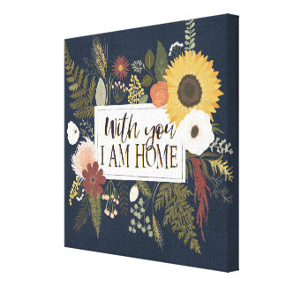 Autumn Romance III | With You I Am Home Canvas Print