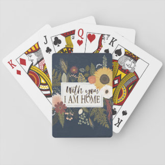 Autumn Romance III | With You I Am Home Playing Cards