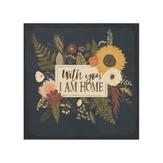 Autumn Romance III | With You I Am Home Wood Wall Art