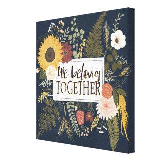 Autumn Romance IV | We Belong Together Canvas Print