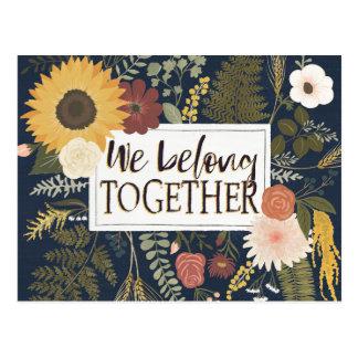 Autumn Romance IV | We Belong Together Postcard