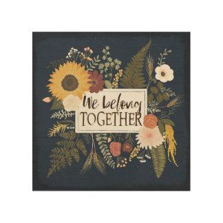 Autumn Romance IV | We Belong Together Wood Print