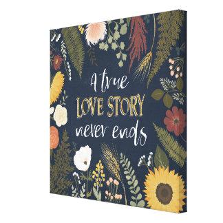 Autumn Romance V | A True Love Story Never Ends Canvas Print