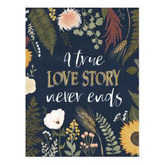 Autumn Romance V | A True Love Story Never Ends Postcard