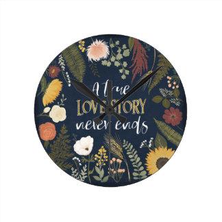 Autumn Romance V   A True Love Story Never Ends Round Clock