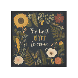 Autumn Romance VI | The Best is Yet To Come Wood Print