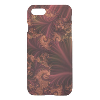 Autumn Rose Gold and Leaves Abstract Fractal Art iPhone 7 Case