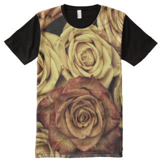 Autumn Roses All-Over Print T-Shirt