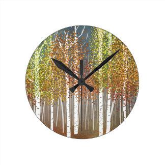 Autumn Round Clock