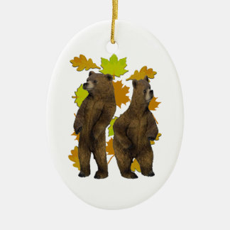 Autumn Rush Ceramic Ornament