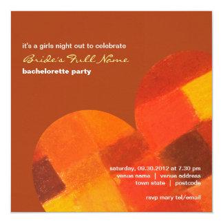 Autumn rust Bachelorette Party Invitation