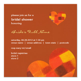 Autumn rust Bridal Shower Invitation