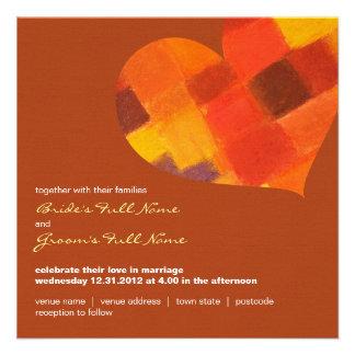Autumn rust Square Wedding Invitation