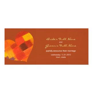 Autumn rust Wedding Announcement
