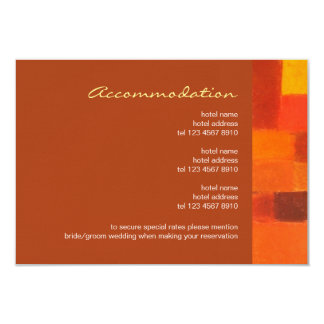 Autumn rust Wedding Enclosure Card 9 Cm X 13 Cm Invitation Card