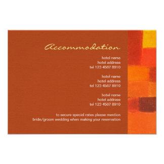Autumn rust Wedding Enclosure Card Personalized Announcement