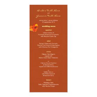 Autumn rust Wedding Menu 10 Cm X 24 Cm Invitation Card