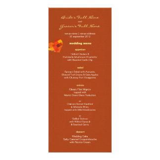 Autumn rust Wedding Menu Personalized Invitation