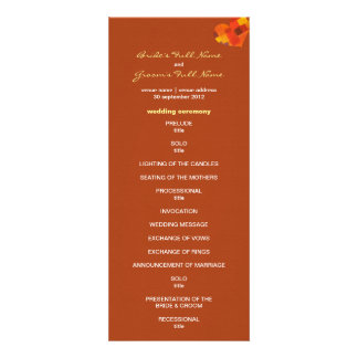 Autumn rust Wedding Program Invitations