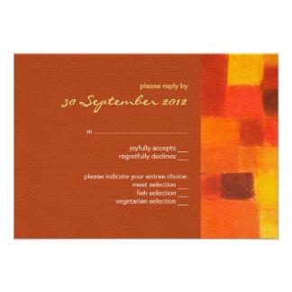 Autumn rust Wedding RSVP Card Custom Invites