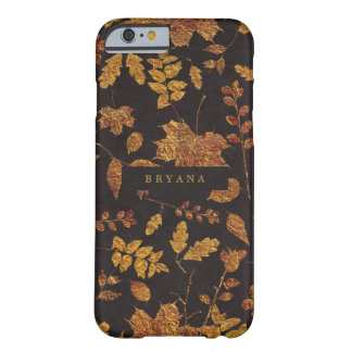 Autumn Rustic Golden Leaves Elegant Fall Barely There iPhone 6 Case