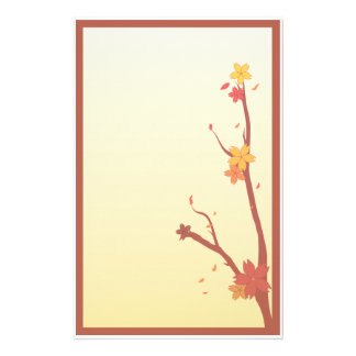 Autumn Sakura Stationery Paper