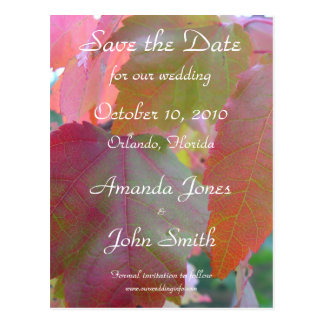 Autumn Save the Date Postcard