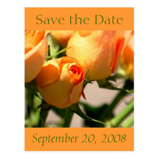 Autumn Save the Date Postcard Roses