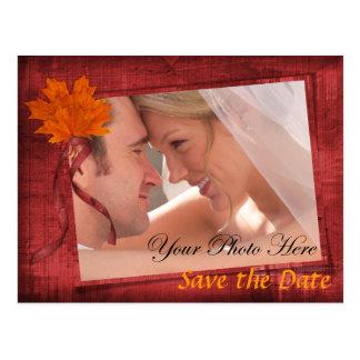 Autumn Save the Date Postcards