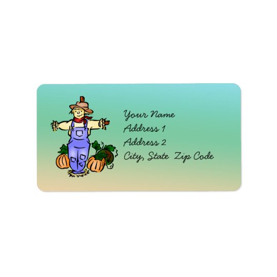 Autumn Scarecrow Address Label