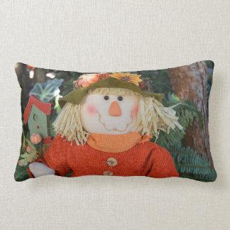Autumn Scarecrow Doll Lumbar Cushion