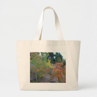 autumn scene tote bags