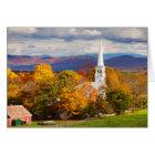 Autumn Scene In Peacham, Vermont, USA Card