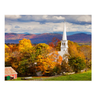 Autumn Scene In Peacham, Vermont, USA Postcard